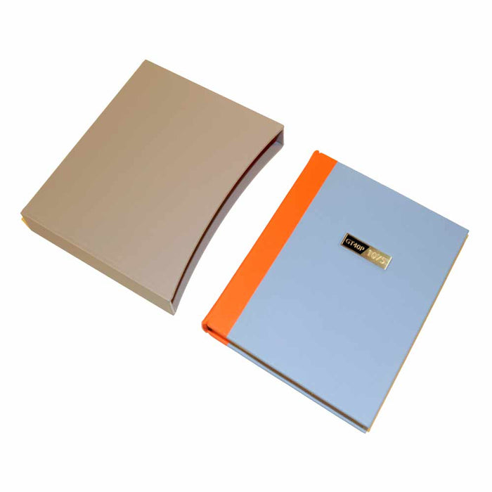 Leather bound book in Gulf colours