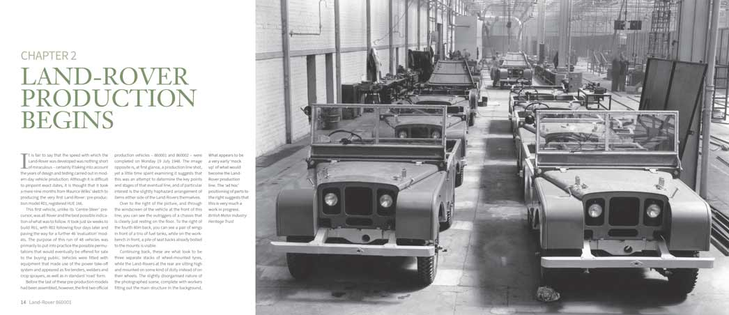 Land Rover production