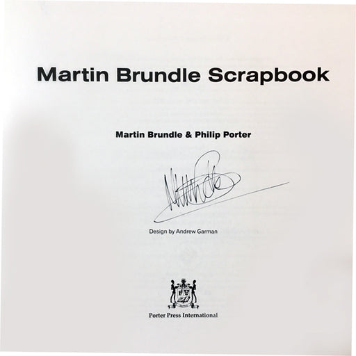 Signed by Martin Brundle