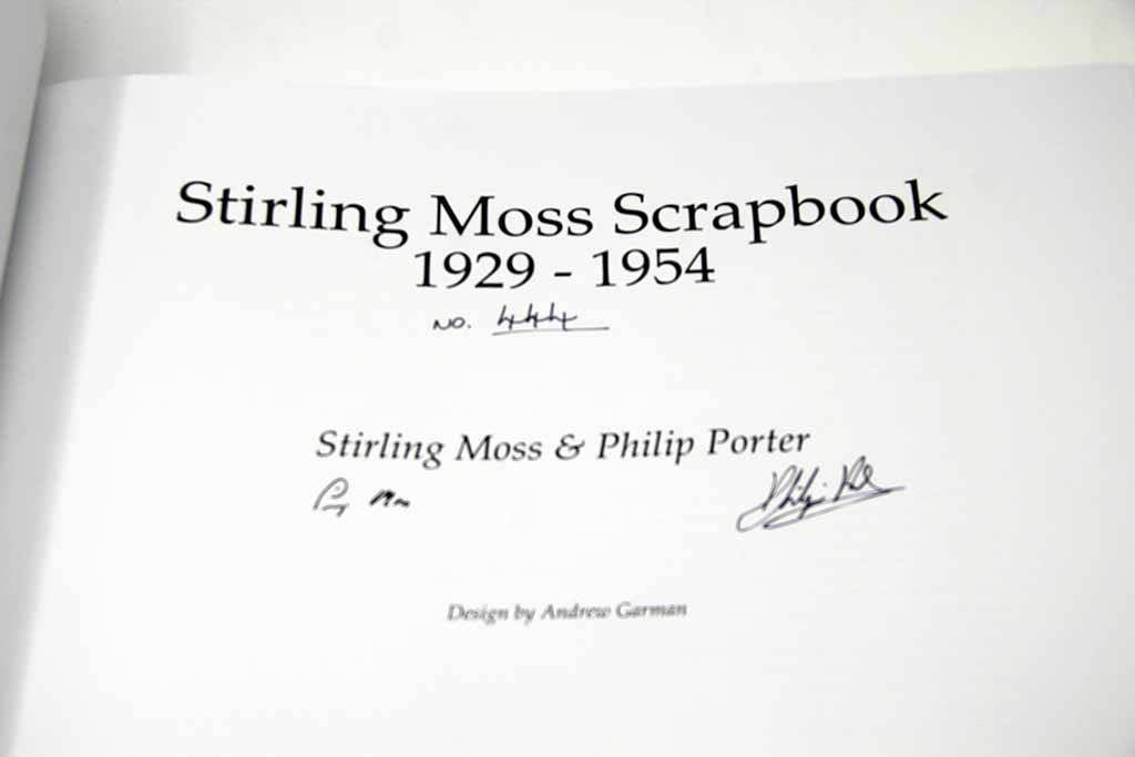 Sir Stirling Moss signature
