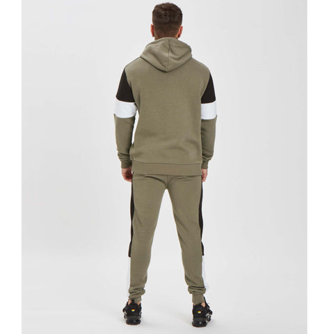 Cut N Sew Hoody - Khaki/White/Black
