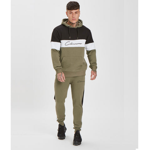 Cut N Sew Jogger - Khaki/Black/White