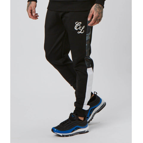 Camo Side Panelled Jogger | Black