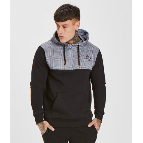 Checkered Hoody - Black