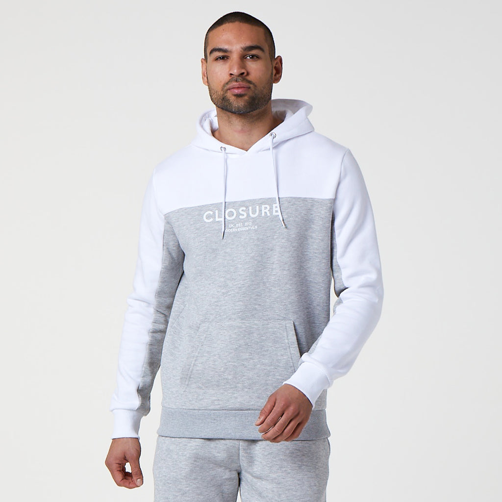 Split Logo Hoody | Light Grey Marl