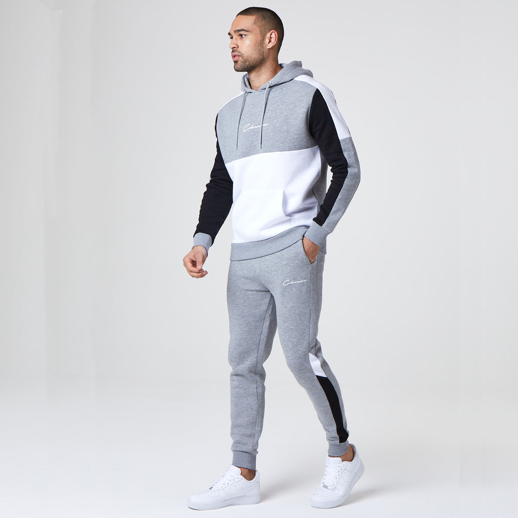 Multipanel Hoody | Grey Marl