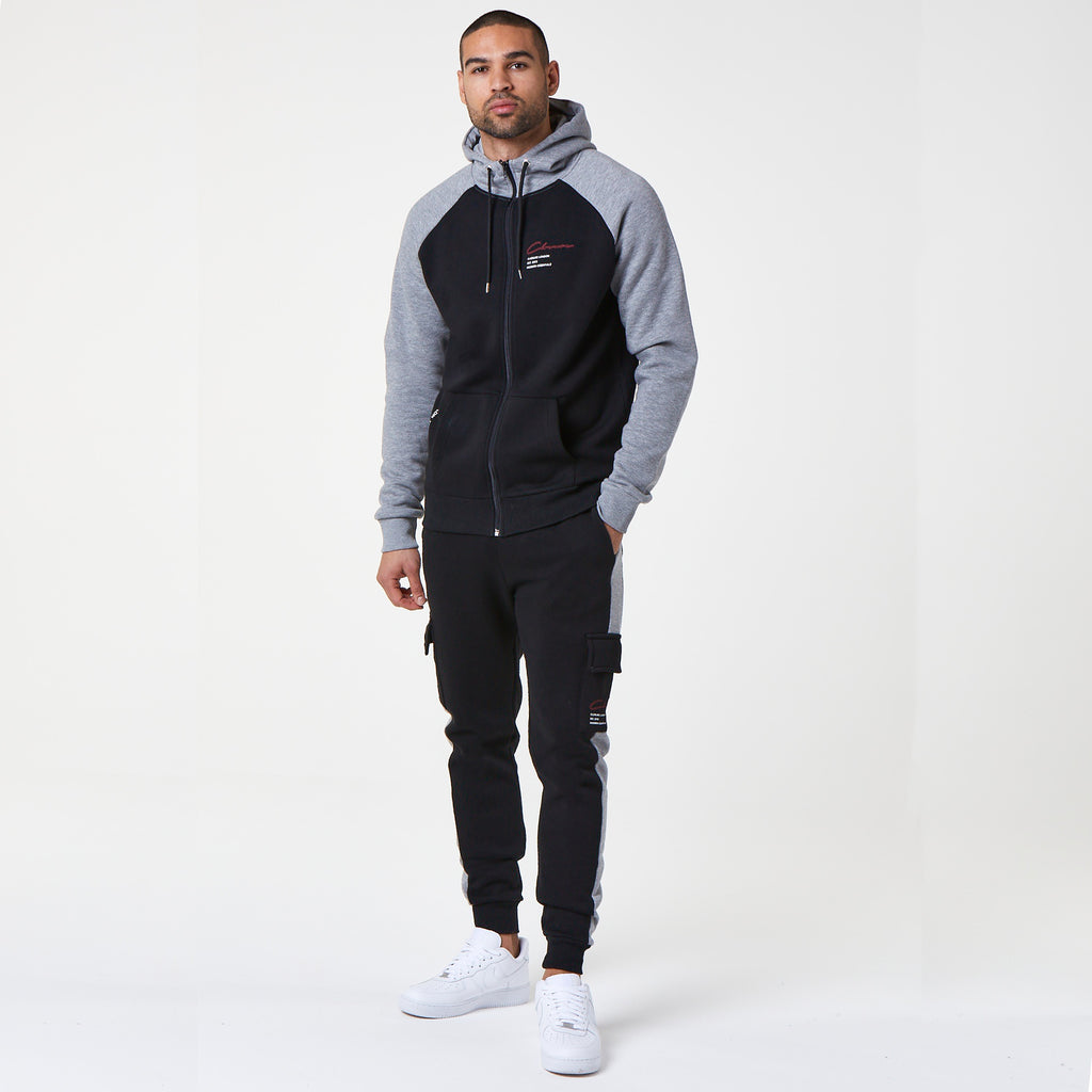 Tech Zip-Through Hoody | Black