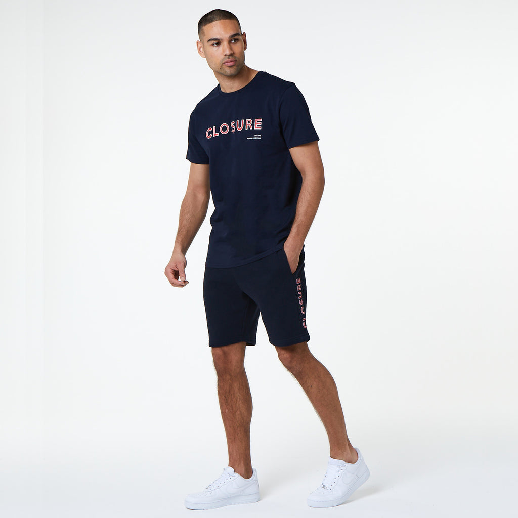Block Outline Short | Navy