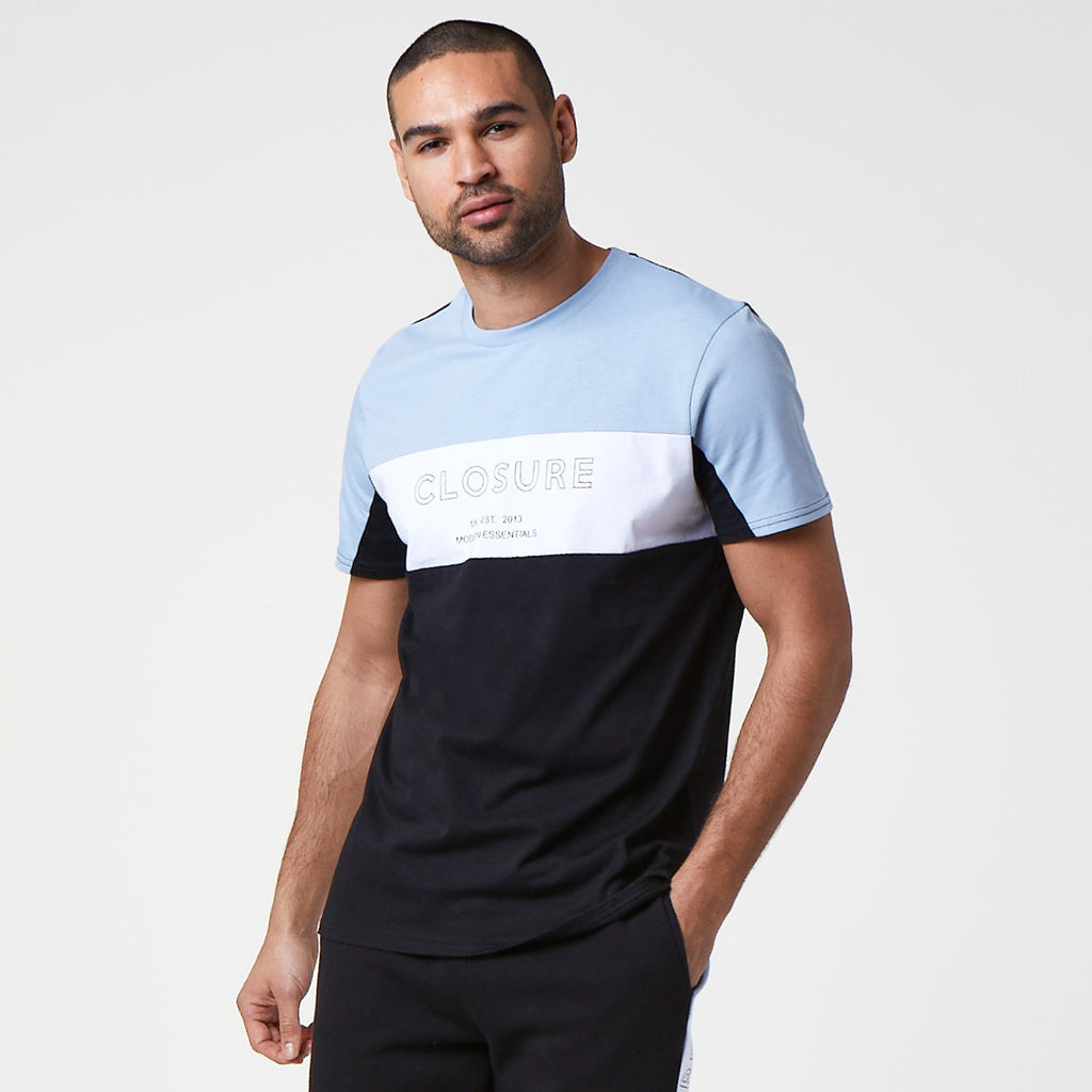 Panelled Logo Block T-Shirt | Black