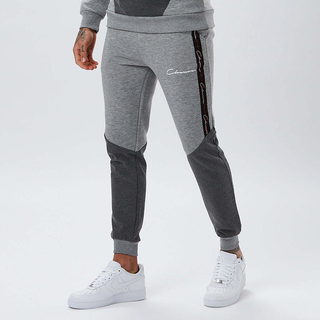 Contrast Taped Jogger | Grey