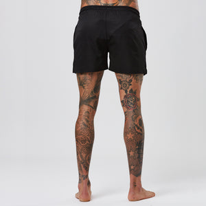 Triple Logo Swimshort | Black