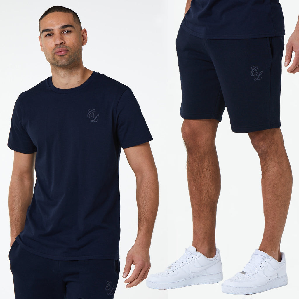 Signature Tee/Short Set | Navy
