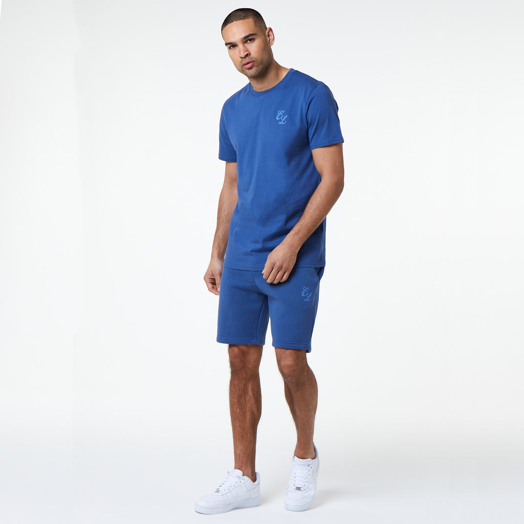 Signature Tee/Short Set | Blue Indigo