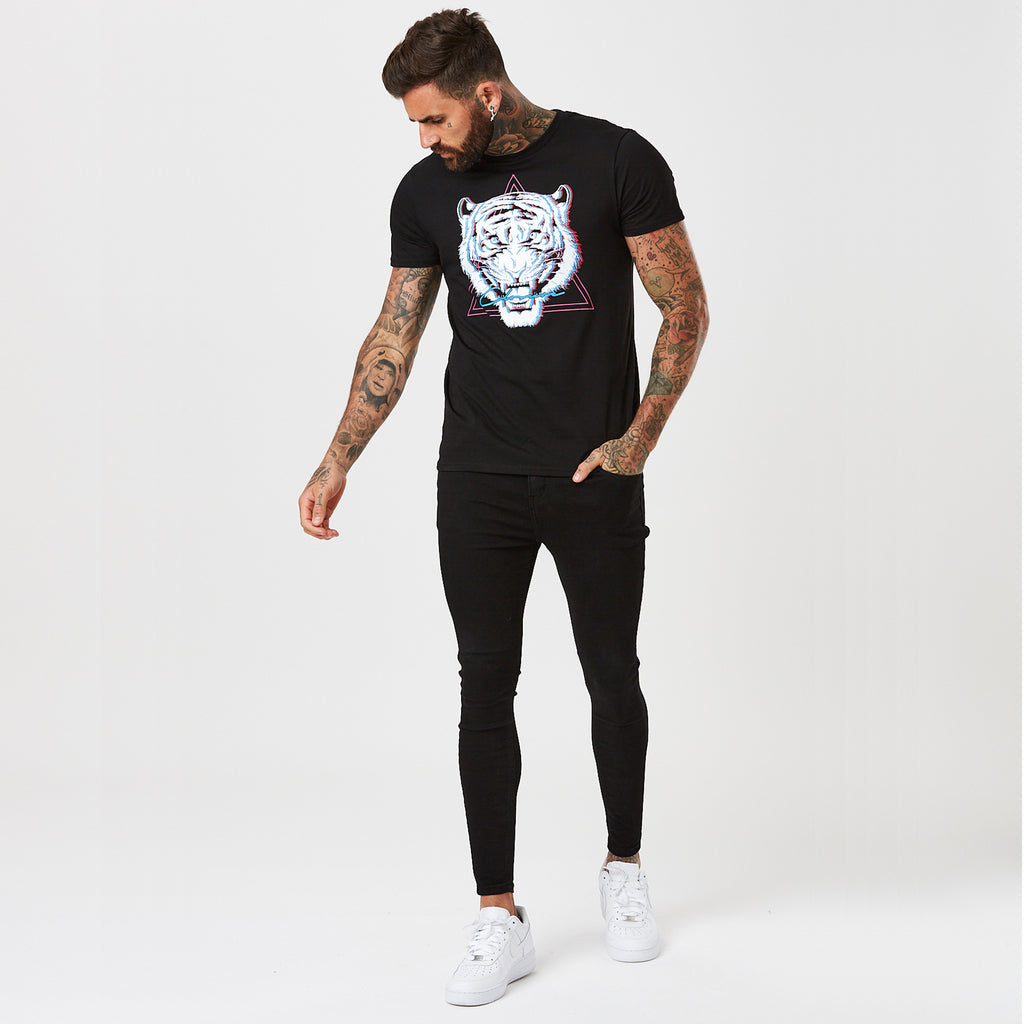 Electric Tiger Tee | Black