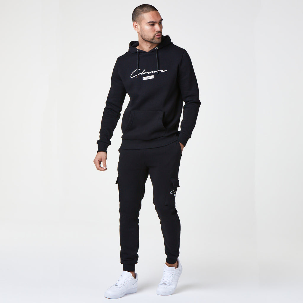 Script London Hoody | Black