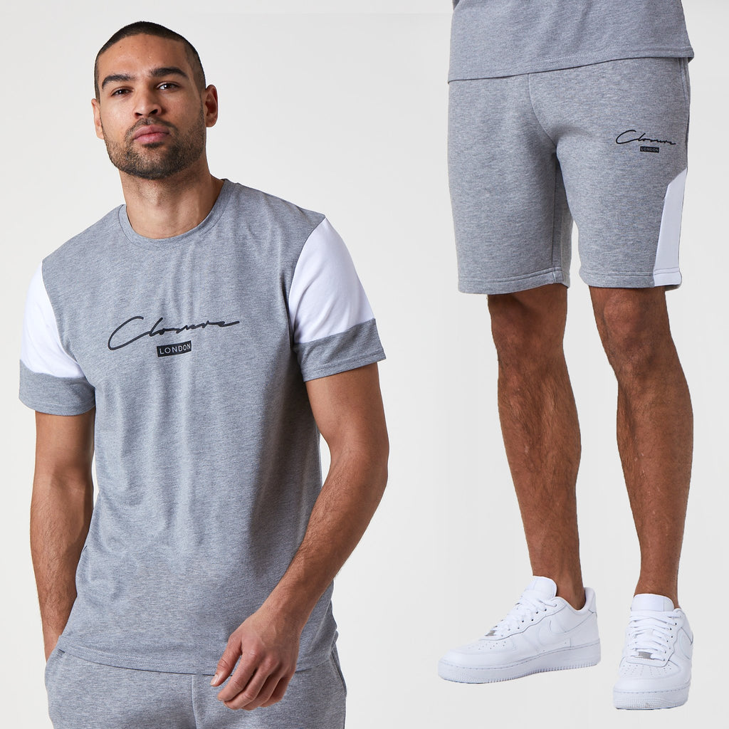 London Cut & Sew Tee/Short Set | Grey Marl