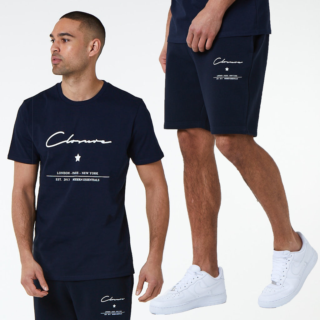 Logo Star Tee\Short Set | Navy