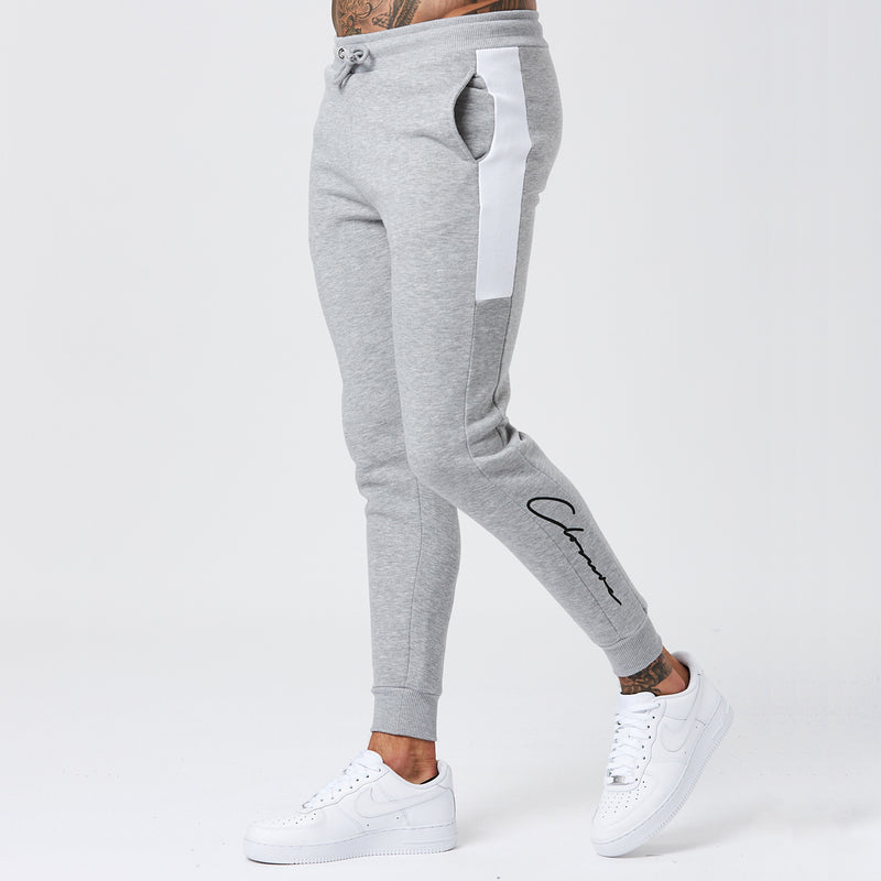 Panelled Track Jogger | Grey/White