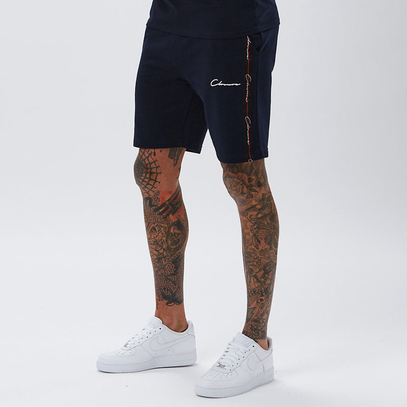 Script Shorts with Taping | Navy