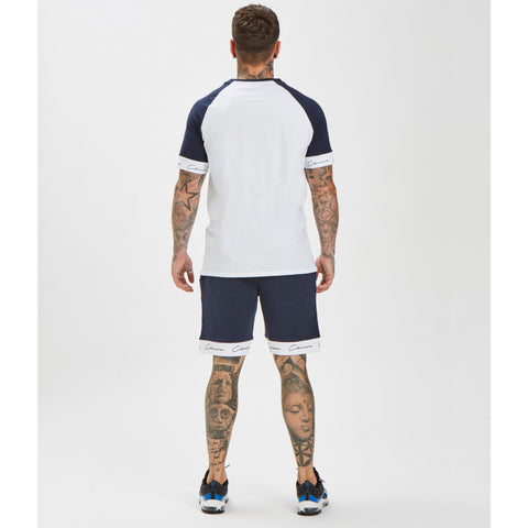 Band Short - Navy/White