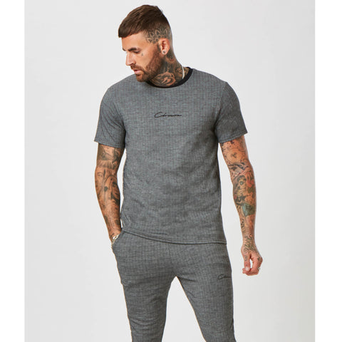 Herringbone Tee | Grey