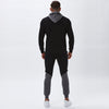 Contrast Taped Hoody | Black