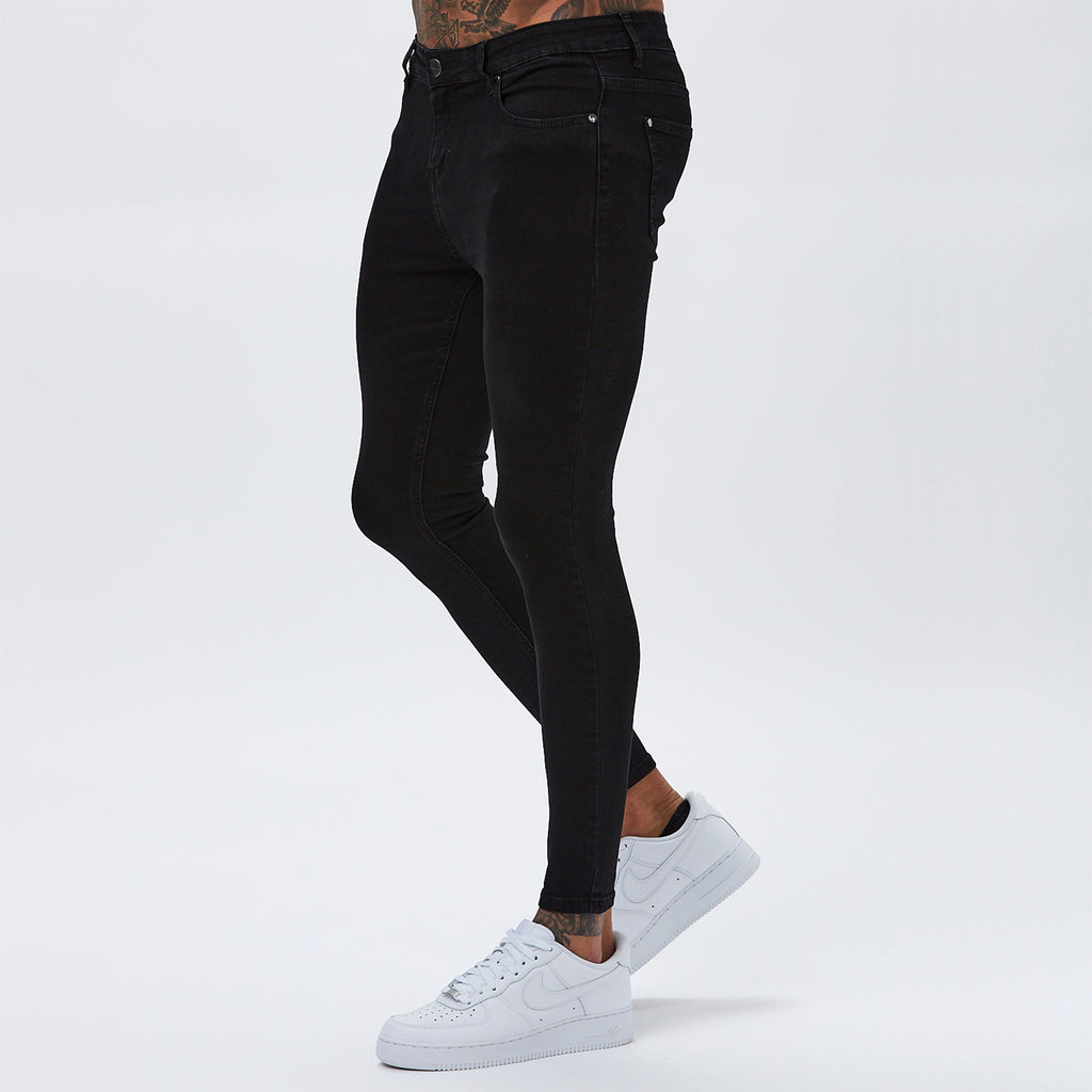 Spray On Non-Ripped Jeans | Black