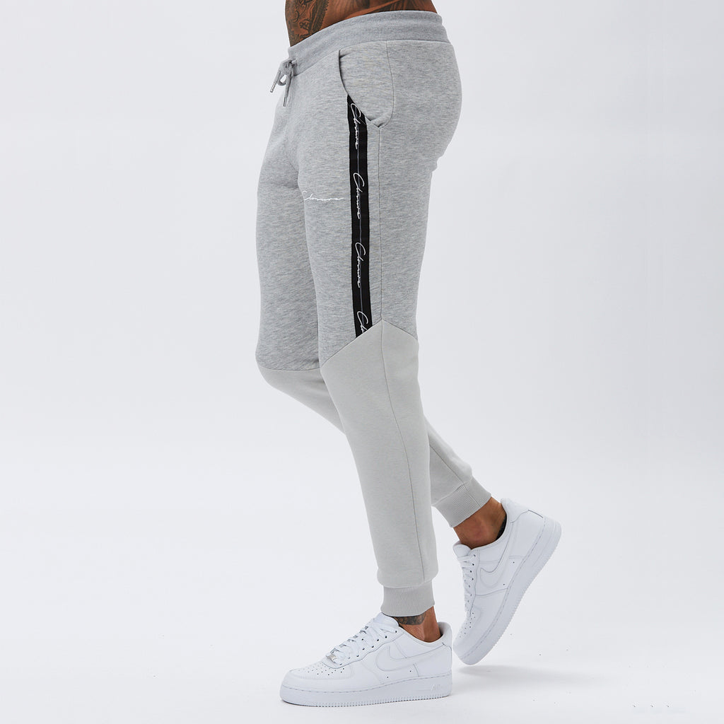 Contrast Taped Jogger | Light Marl