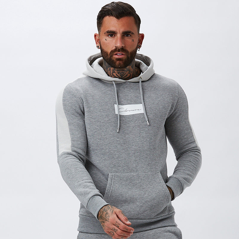 Core Block Hoody | Grey Marl