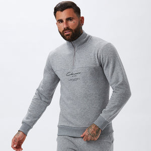 Essentials Funnel Neck | Grey Marl