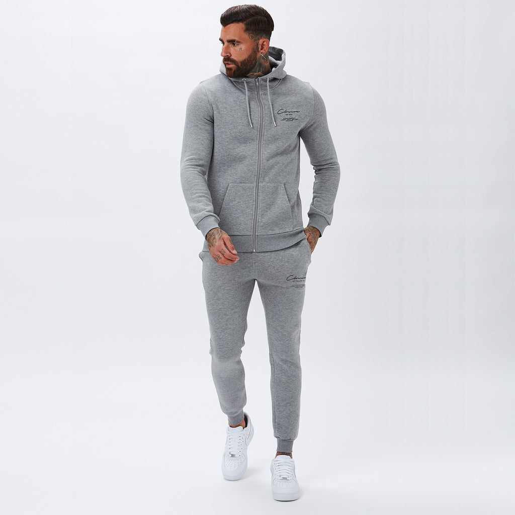 Essentials Zip-Through Hoody | Grey Marl