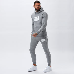 Box Logo Piped Hoody | Grey