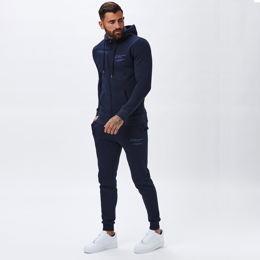Essentials Zip-Through Hoody | Navy