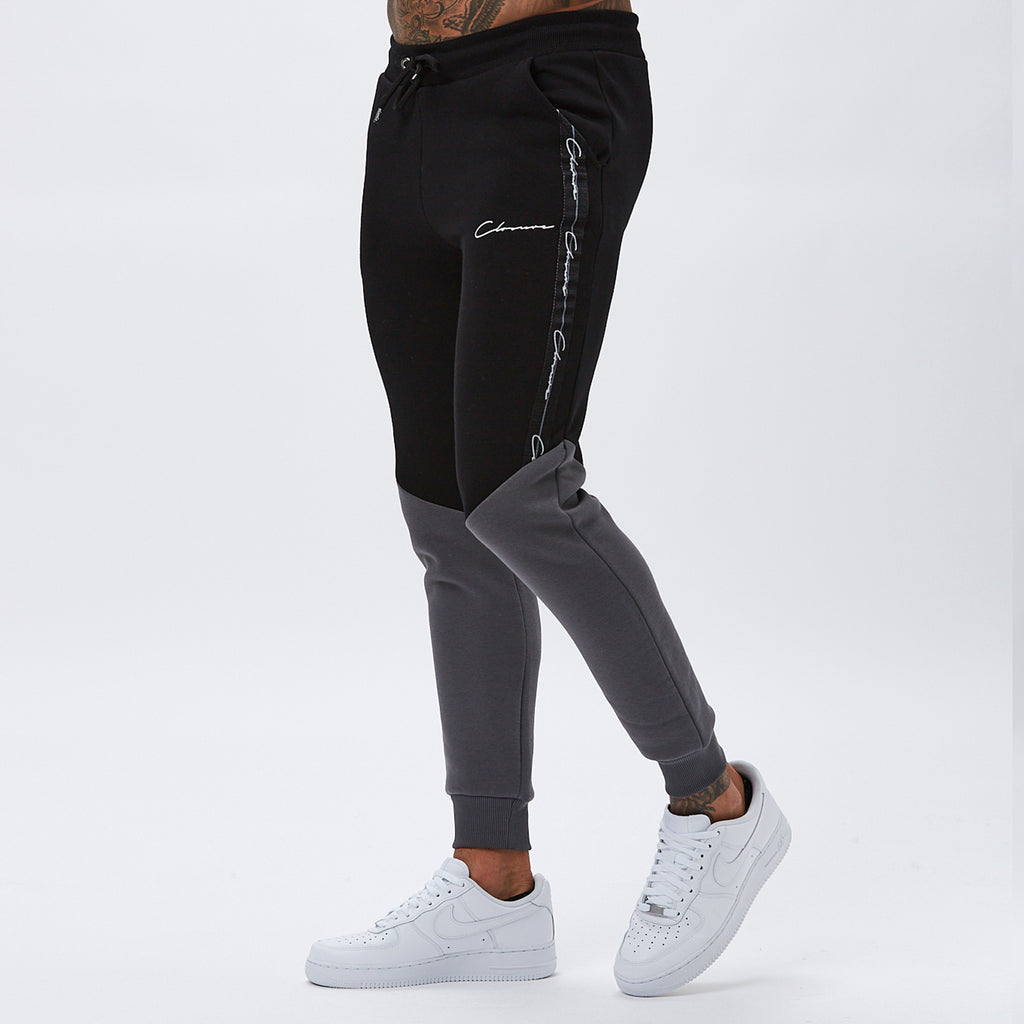 Contrast Taped Jogger | Black
