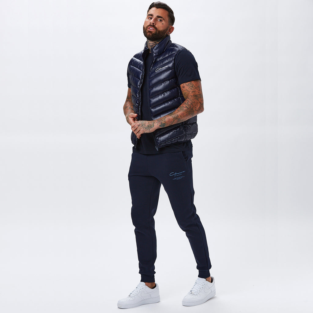 Quilted Gilet | Navy
