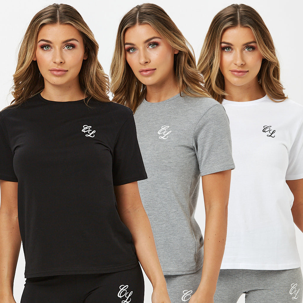 Signature Multipack Tees | Black/White/Grey