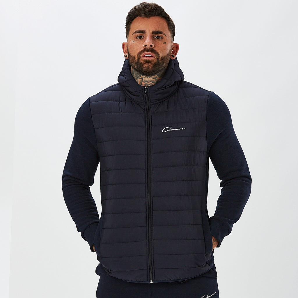 Hybrid Quilted Jacket | Navy