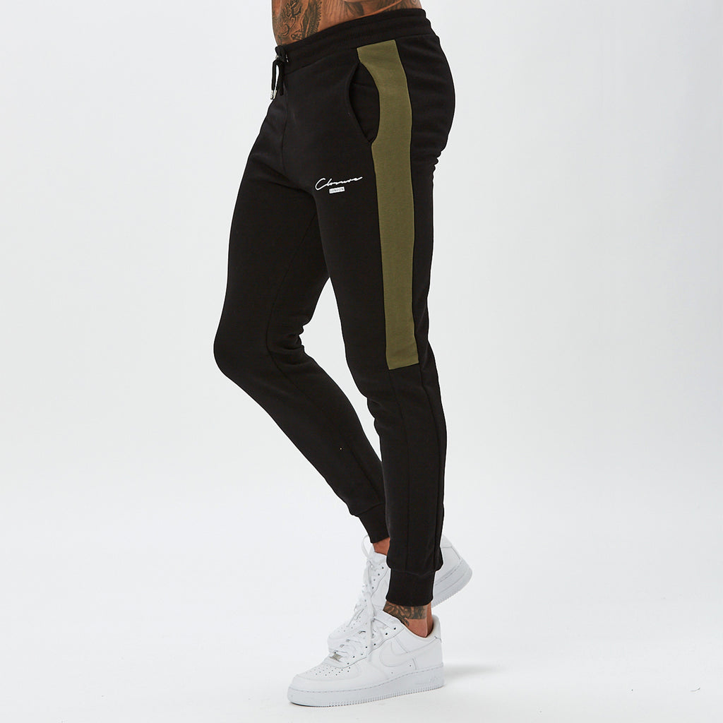 Contrast Script London Jogger | Black