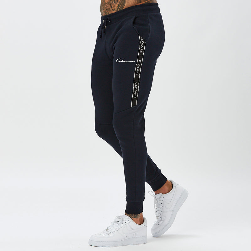 Cut & Sew Taped Jogger | Navy