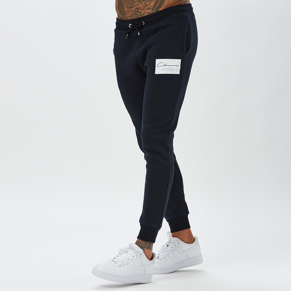 Boxed Logo Jogger | Navy