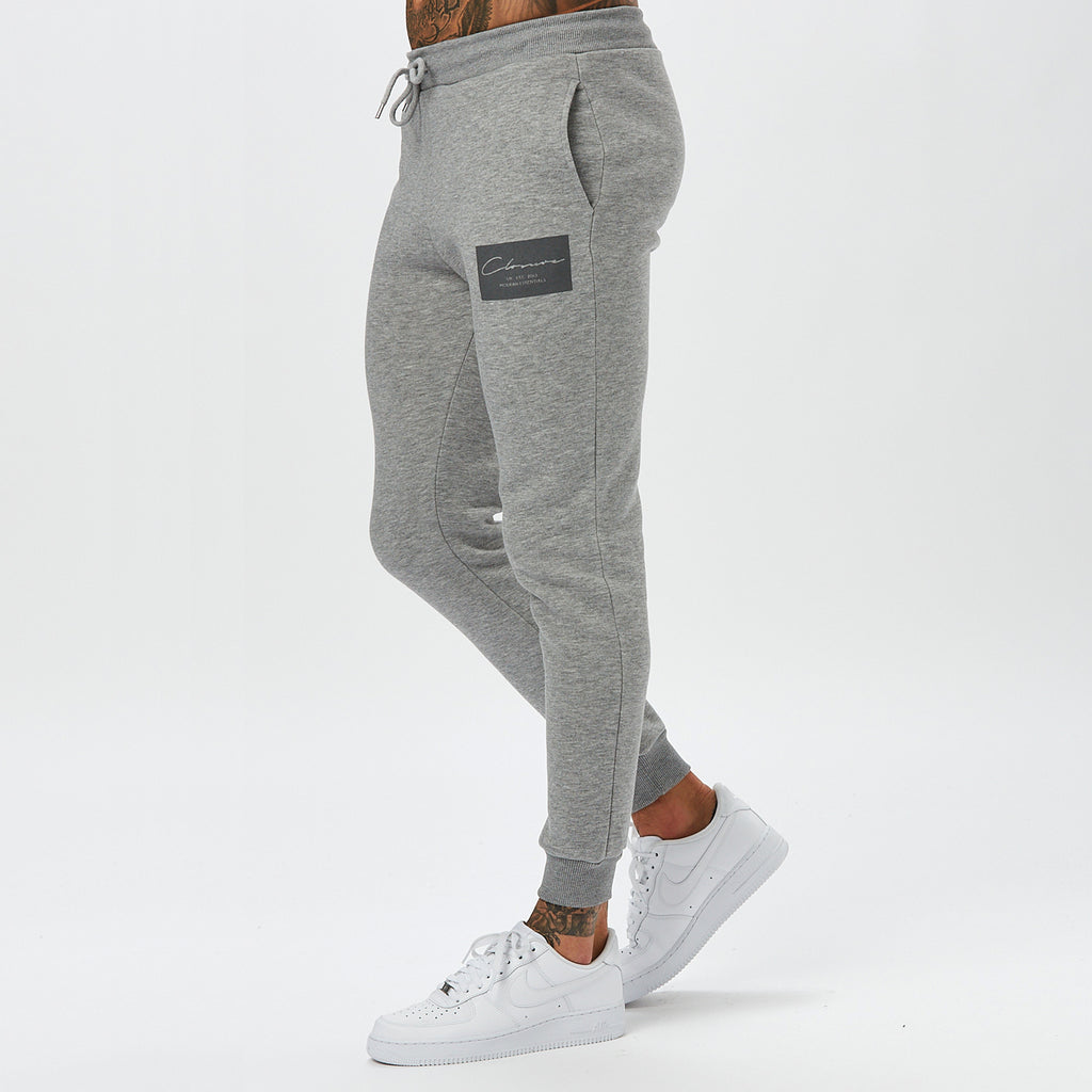 Box Logo Jogger | Grey Marl