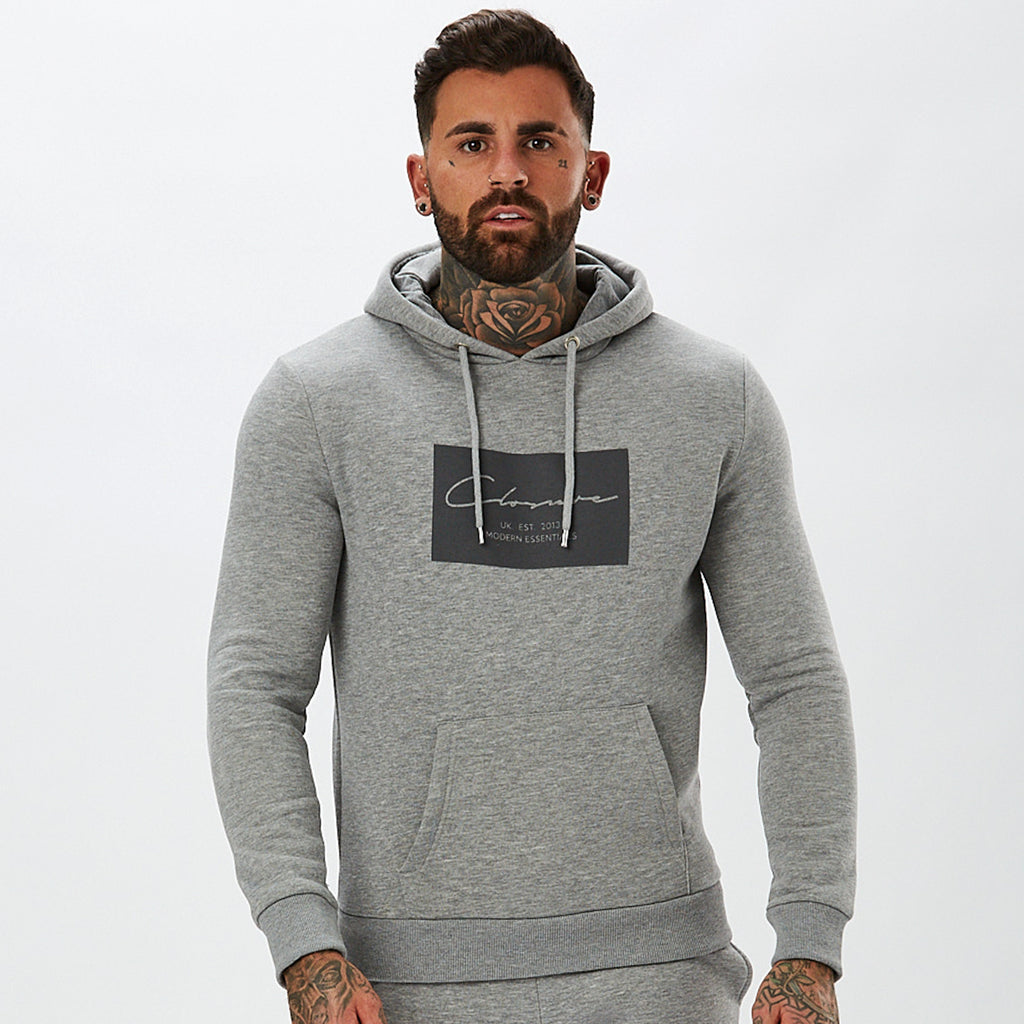 Boxed Logo Hoody | Grey