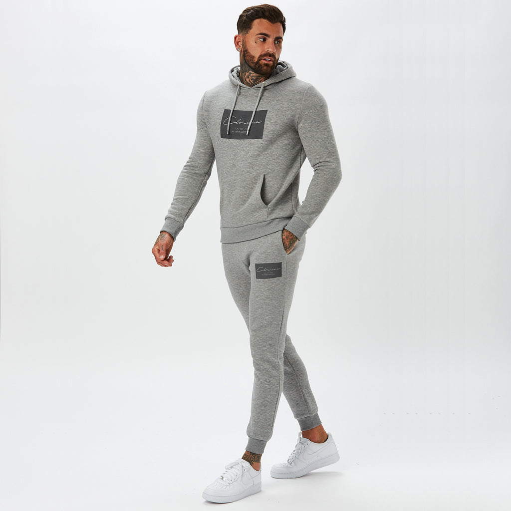 Boxed Logo Jogger | Grey