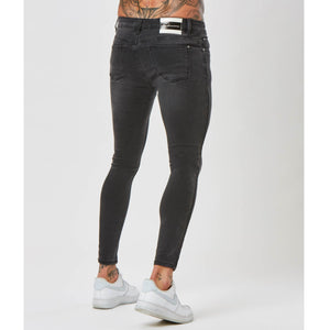 Spray On Ripped Jeans | Grey