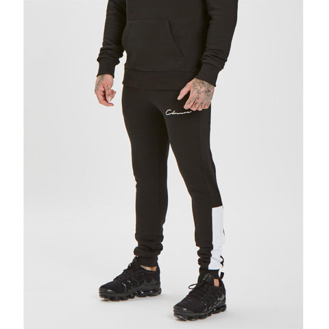 Cut N Sew Jogger - Black/White
