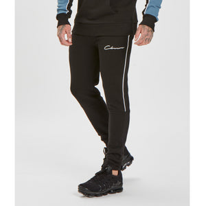 Piped Jogger | Black White