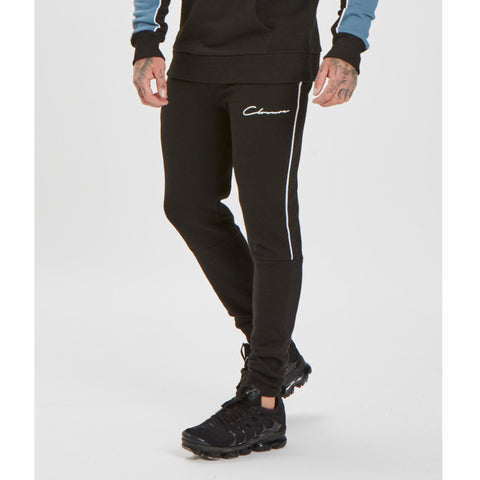 Piped Jogger - Black/White