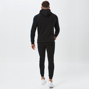 Box Logo Piped Jogger | Black