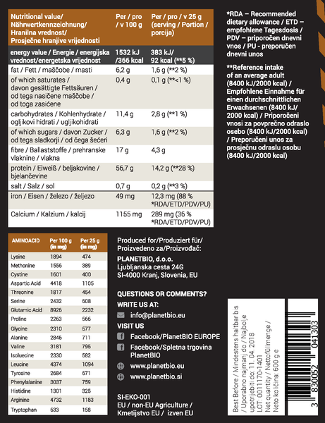 VEGAN PROTEIN BLEND – COCOA 600 g