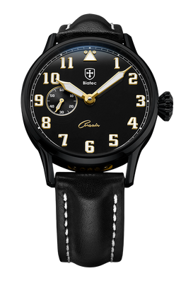 Biatec Corsair 02 - automatic pilot watch - black leather strap
